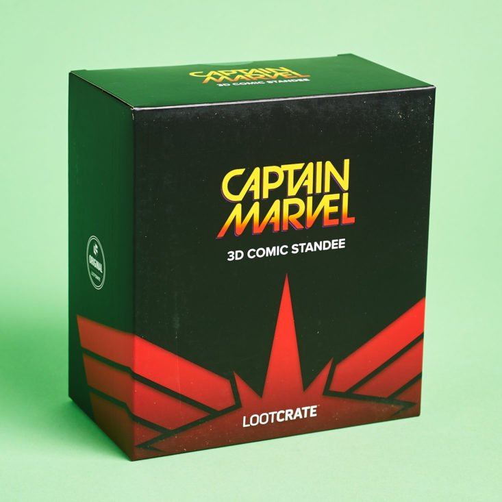 Loot Crate Cosmic March 2019 cap marvel figure box