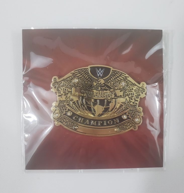 Loot Crate WWE Slam Crate February 2019 - WWE Undisputed Championship Title Belt Pin Front 1