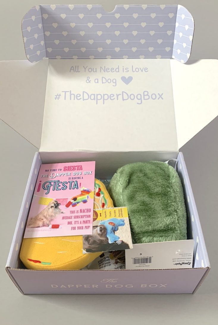 The Dapper Dog Box Review May 2019 - Box Open Top