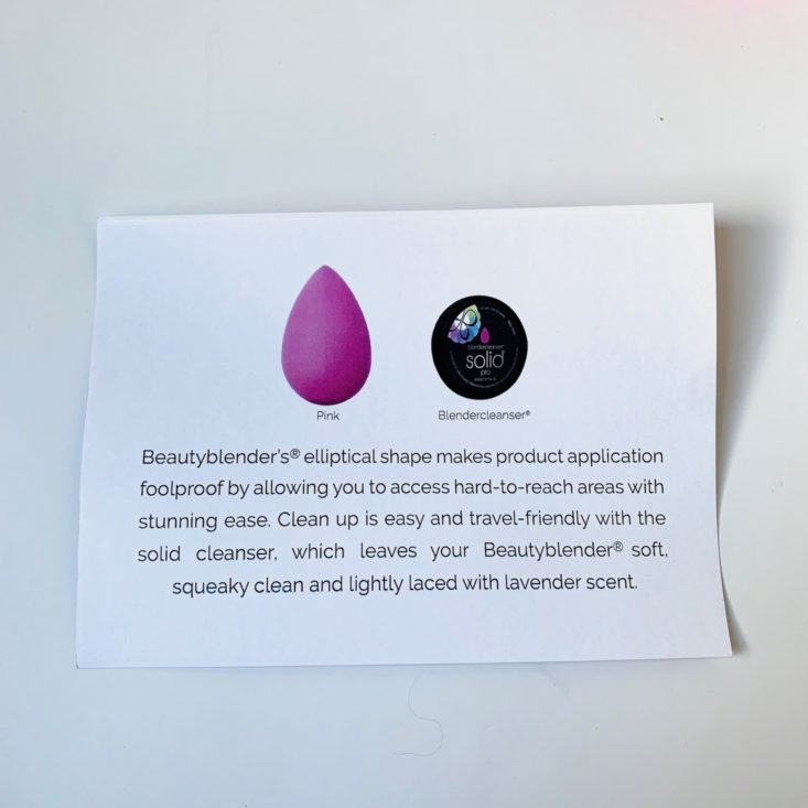 Proscription Beauty Box Summer 2019 - Beautyblender Original 1