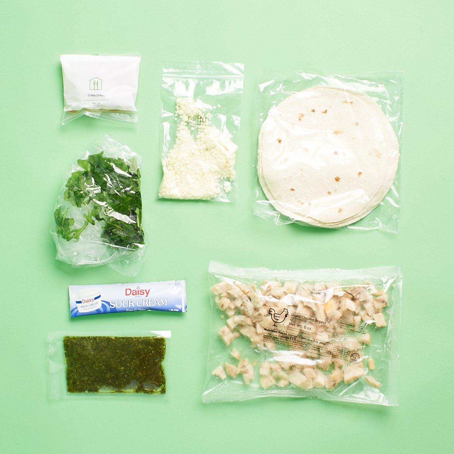 chicken chimichurri tacos laydown