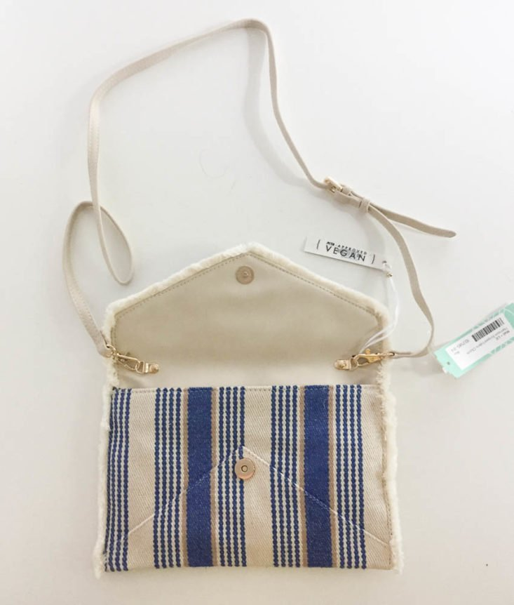 Stitch Fix Plus July 2019 - Harrison Striped Fabric Clutch by Mali + Lili Open Bag Top