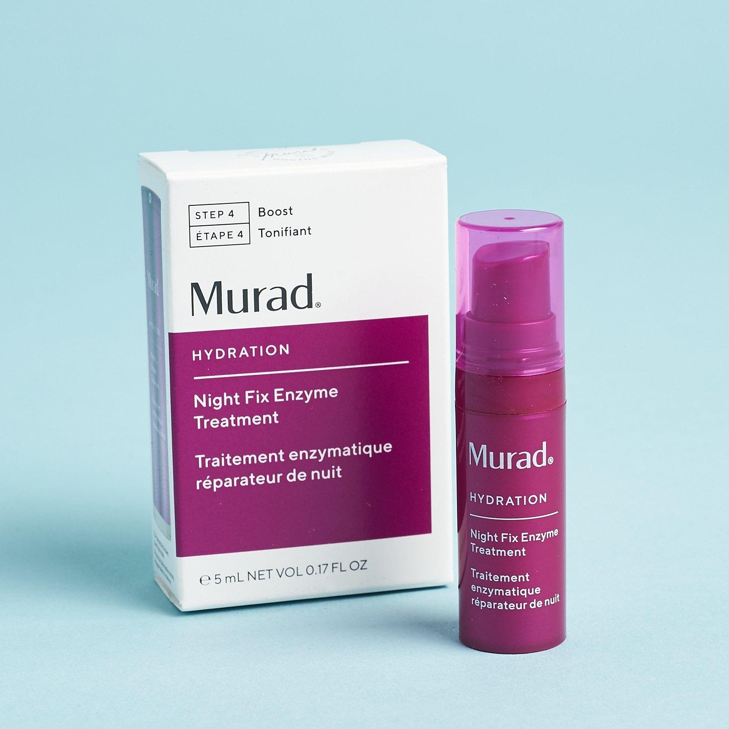 magenta tube of serum