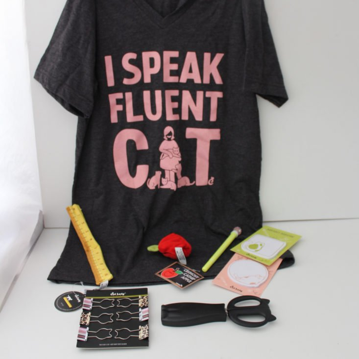 Cat Lady Box September 2019 - All Content Top
