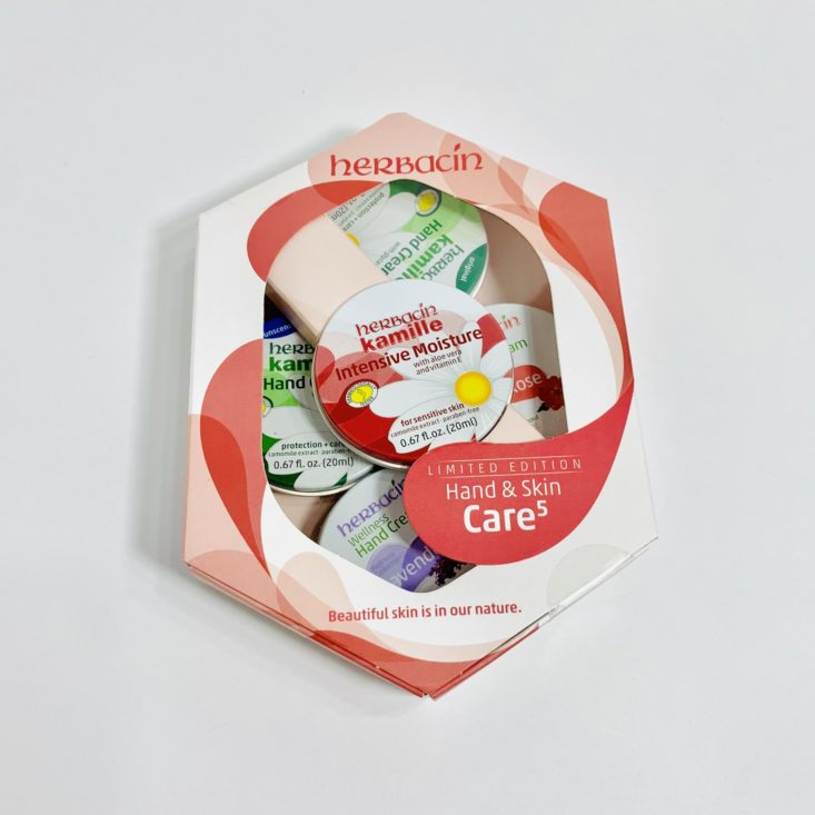 Cocotique Beauty Box August 2019 - Herbacin Hand & Skin Care Gift Set Front