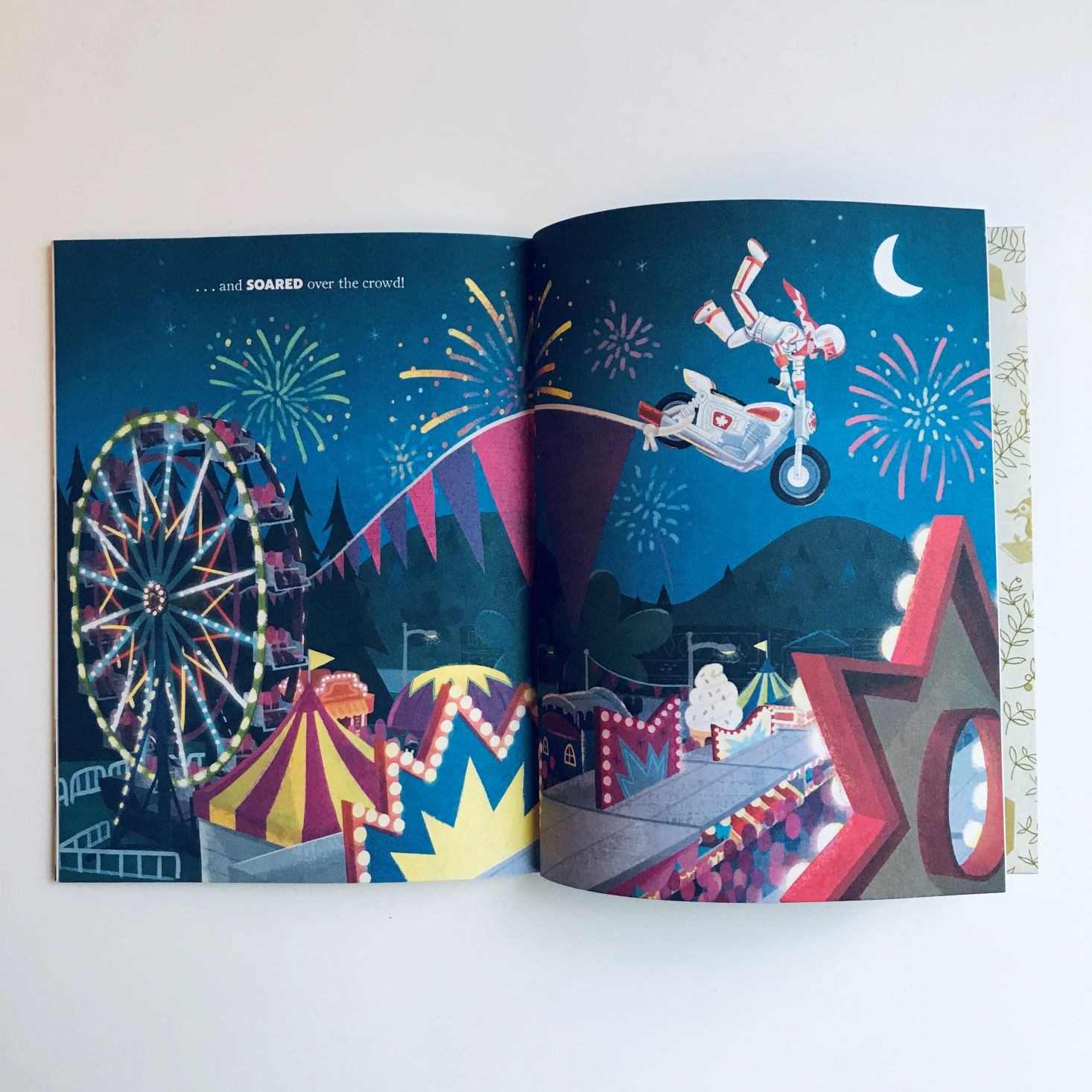Disney Bedtime Adventure Box October 2019 book ferris wheel page